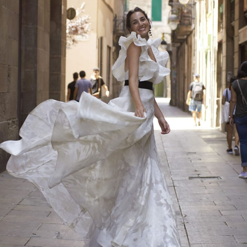 Three influencers in Barcelona: brides for the day